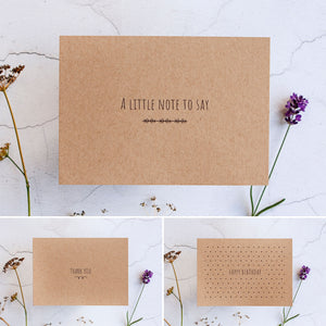 Alice & Peg Thoughts Box - Thoughtful letterbox gift set - Beautifully handwrapped in Alice & Peg's stylish custom gift wrap. Each set comes with a greetings card of your choice, handwritten with your message.