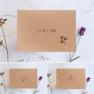 Beautifully handwrapped in Alice & Peg's stylish custom gift wrap. Each set comes with a greetings card of your choice, handwritten with your message.
