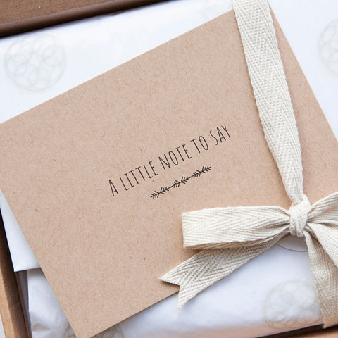 Alice & Peg New Beginnings Box - Luxury Ecofriendly Vegan New Mum & Baby Pamper Gift Set - Beautifully handwrapped in Alice & Peg's stylish custom gift wrap and personalised with a handwritten greetings card.