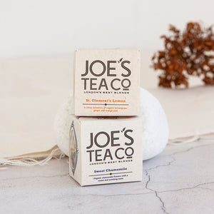 Alice & Peg Calm Box - Vegan Ethical Pamper Gift Box - Includes a Set of Calming Organic Teas by Joe's Tea.  Two cup ready teas, St Clement's Lemon and Sweet Chamomile.