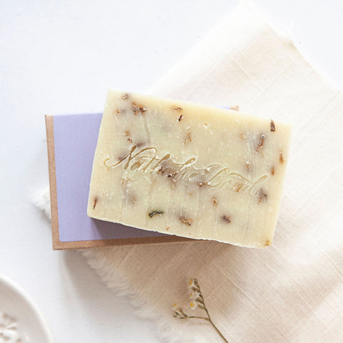 Alice & Peg Calm Box - Vegan Ecofriendly Pamper Gift Box - Featuring a delicately scented handmade natural soap bar by Nathalie Bond.
