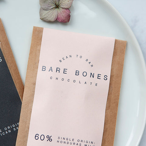 Alice & Peg Live The Little Things Box - Thoughtful ethical letterbox gift set featuring handmade 60% single origin Honduras mini milk chocolate bar by Bare Bones