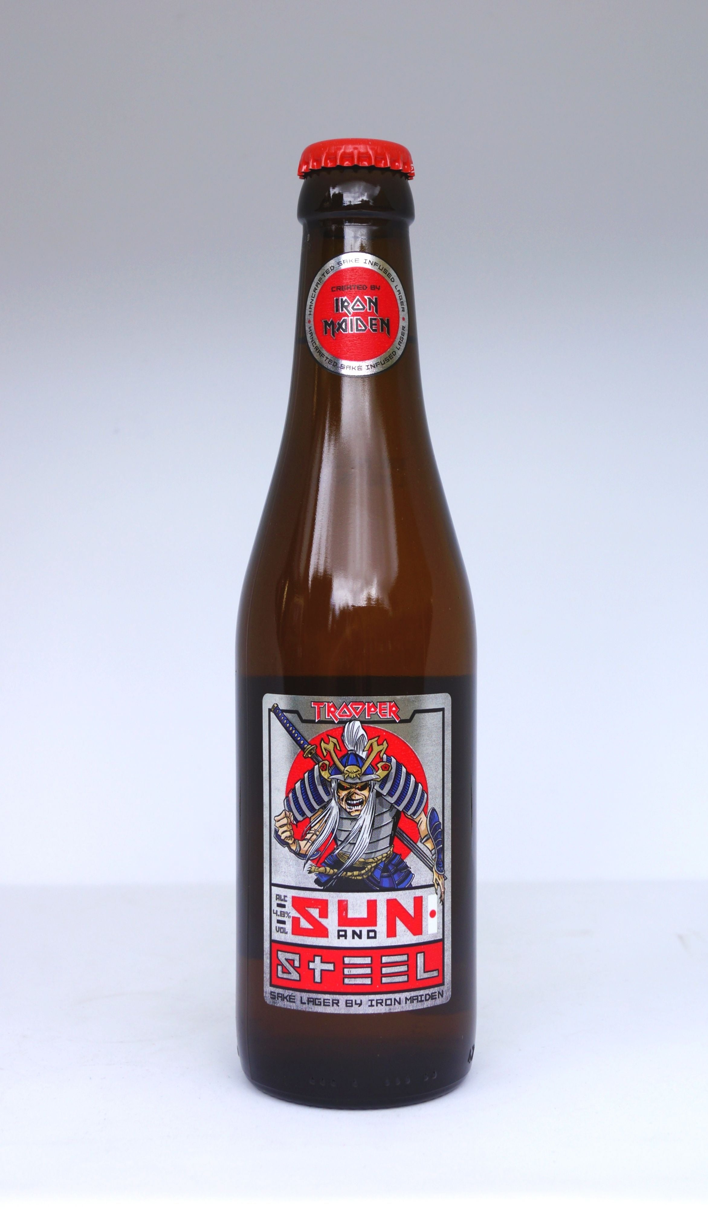 Trooper Sun and Steel Saké Lager by Iron Maiden