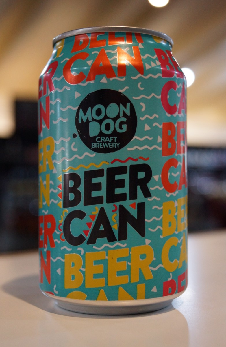 Moon Dog Beer Can Lager