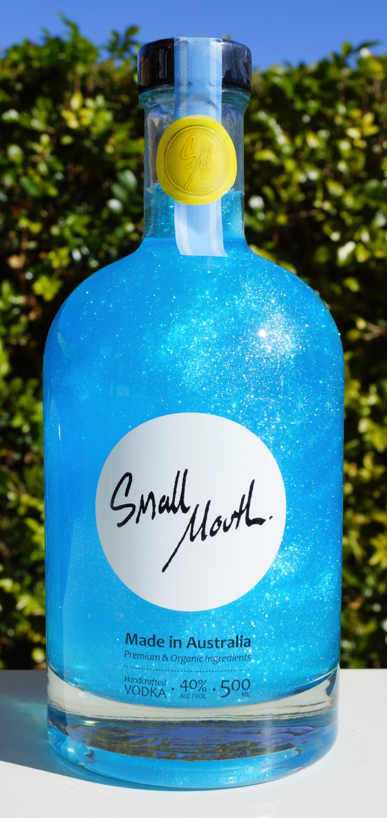 Small Mouth Blue Shimmer Vodka