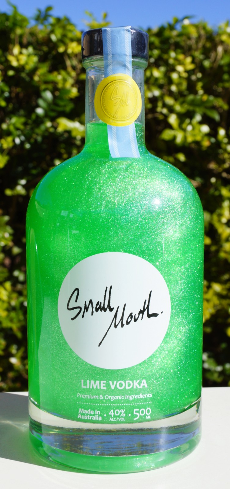 Small Mouth Shimmer Lime Vodka