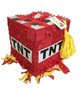APINATA4U Pixelated TNT Pinata Red Color