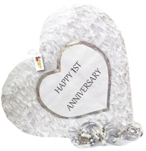 Load image into Gallery viewer, APINATA4U 1st Anniversary Heart Pinata First Anniversary Party Favors