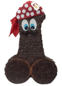 "Pecker Pinata 24"" Tall BrownReady to Ship Color Bachelor Bachelorette Party Favors Gag Gifts"
