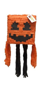 APINATA4U Pumpkin Head Pixel Pinata Video Game Party Favor