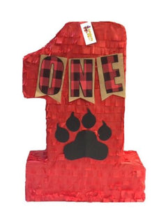 APINATA4U Number One Pinata for Lumberjack Theme Party Lumberjack Party Favor