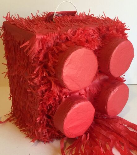 Red Brick Pinata Building Block Pinata