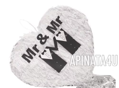 APINATA4U Mr & Mr Heart Wedding Heart Pinata LGBT Party Supplies