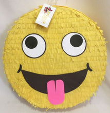 "Load image into Gallery viewer, Silly Emoji Style Pinata 16"" Emoticon Pinata Emoticon Smiley Pinata"