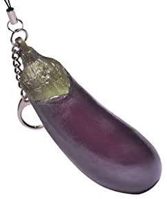 Squeeze Eggplant Toy - Keychain of Good Quality.