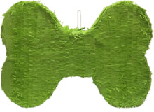 Load image into Gallery viewer, Green Dog Bone Pinata 20""
