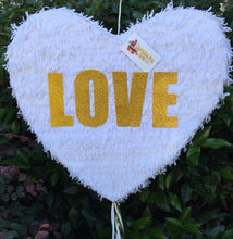 Load image into Gallery viewer, APINATA4U White heart Pull Strings Pinata LOVE Wedding Decor Wedding Party Favor