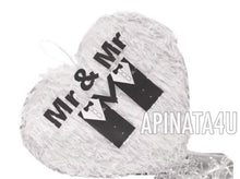 Load image into Gallery viewer, APINATA4U Mr & Mr Heart Wedding Heart Pinata LGBT Party Supplies