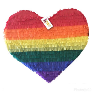 APINATA4U Rainbow Heart Pinata LGBT Party Favor Valentine's Day Pinata