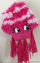 Load image into Gallery viewer, Pink & White Pinata, Can be used for Shopkins theme party!