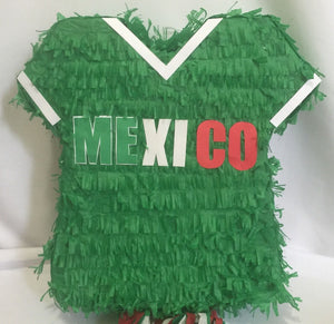 Mexico Jersey Pinata Green Color, Soccer Party Supplies