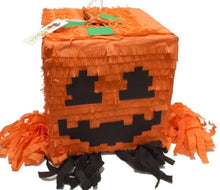 Load image into Gallery viewer, APINATA4U Pumpkin Head Pixel Pinata Video Game Party Favor