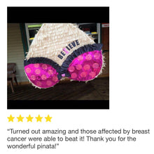 Load image into Gallery viewer, APINATA4U Breast Cancer Awareness Pinata, Heart Shape Customize Message FREE