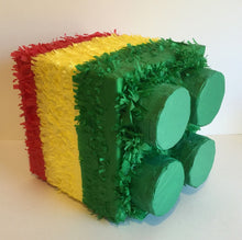 Load image into Gallery viewer, APINATA4U Building Block Pinata Green Top