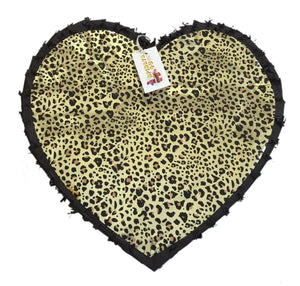 "Black & Leopard Print Heart Pinata 19"" Tall Diva Party Supplies"