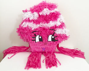 Pink & White Pinata, Can be used for Shopkins theme party!