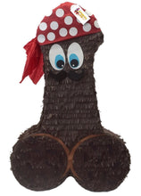 "Load image into Gallery viewer, Pecker Pinata 24"" Tall BrownReady to Ship Color Bachelor Bachelorette Party Favors Gag Gifts"