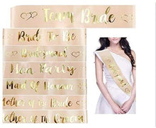 Load image into Gallery viewer, Bride To Be Belt Hen Night Girl Wedding Decoration with Gold Foil