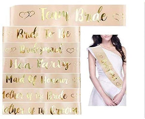 Bride To Be Belt Hen Night Girl Wedding Decoration with Gold Foil