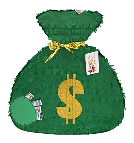 APINATA4U Green Money Bag Theme Pinata