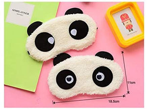 Comfortable Plush Blindfold Mask Cartoon Panda Style
