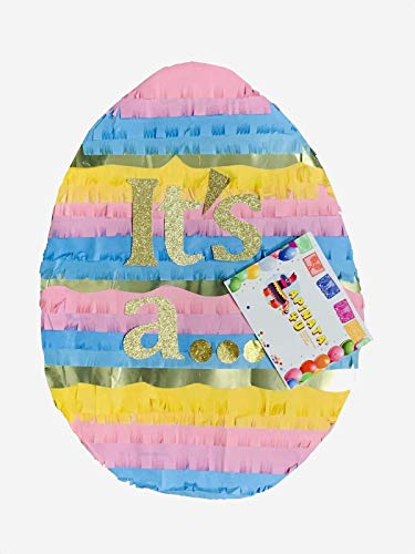 APINATA4U Huevo De Pascua It's a. Gender Reveal Easter Egg Pinata