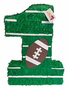 "APINATA4U Large Green Number One Pinata American Football 24"" Tall"