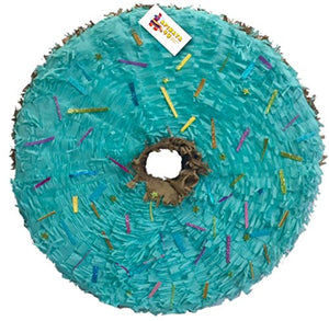 "APINATA4U Doughnut Shape Pinata 16"" Teal Color"