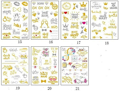 Tattoo Sticker Gold Stick for Bachelorette Party