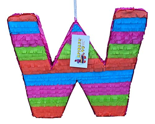 APINATA4U Large Letter W Pinata Bright Colors