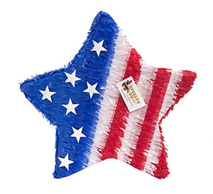 APINATA4U Red White and Blue Star Pinata Happy 4th of July