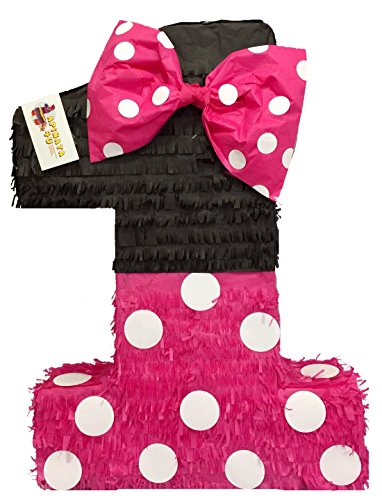 APINATA4U Large Hot Pink & Black Number One Pinata 23