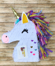 Load image into Gallery viewer, APINATA4U Unicorn Pinata with flowers