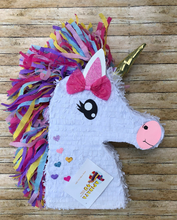 Load image into Gallery viewer, APINATA4U Unicorn fancy Pinata with hot pink bow