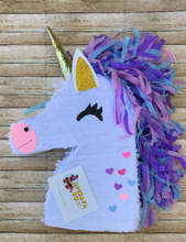 Load image into Gallery viewer, APINATA4U purple mane Unicorn Pinata