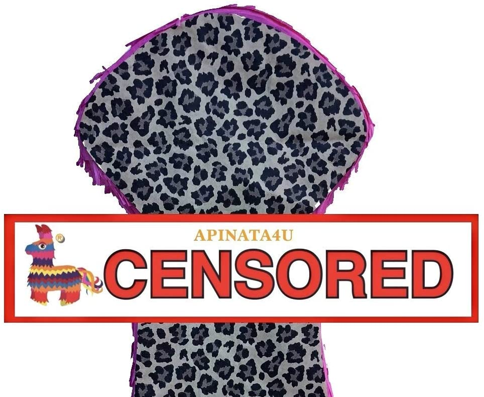 APINATA4U LLC - Large Penis Adult Pinata | Hot Pink and Leopard | Ideal for Bachelorette Party | Made with High Quality Cardboard | for Fun, Party & Game | Size - 2ft Approx | Easy to Use & Fill
