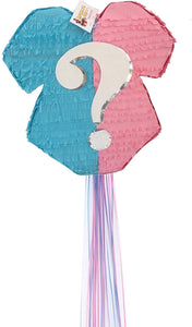 Pink & Blue Gender Reveal Pinata Baby Theme Baby Onesie Theme