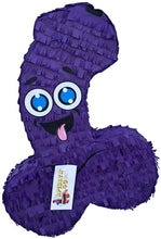 Load image into Gallery viewer, APINATA4U LLC - Large Penis Adult Pinata | Purple Color | Ideal for Bachelorette Party | Made with High Quality Cardboard | Over The Hill Gag Gift | Size - 2ft Approx | Easy to Use & Fill