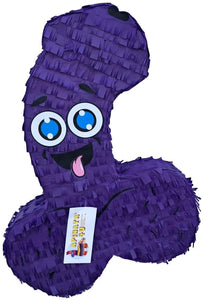 APINATA4U LLC - Large Penis Adult Pinata | Purple Color | Ideal for Bachelorette Party | Made with High Quality Cardboard | Over The Hill Gag Gift | Size - 2ft Approx | Easy to Use & Fill
