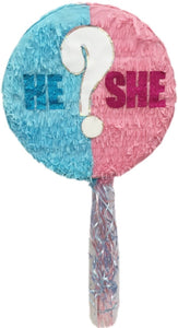 He or She? Gender Reveal Pull Strings Pinata 16""